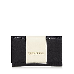 RJR.John Rocha - Black colour block flap over purse