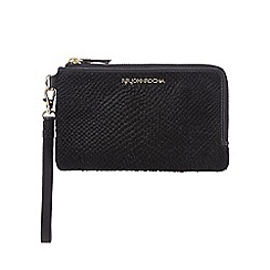 RJR.John Rocha - Black textured pony hair wristlet