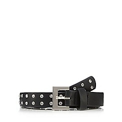 Red Herring - Black diamante studded belt