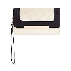 Call It Spring - Black 'Range' colour block quilted purse