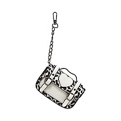 H! by Henry Holland - Black and white printed mini bag charm