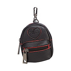H! by Henry Holland - Black mini faux-leather backpack charm