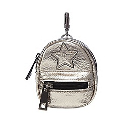 H! by Henry Holland - Gold metallic mini backpack bag charm