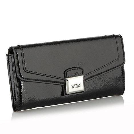 Fiorelli - Black textured patent faux leather purse