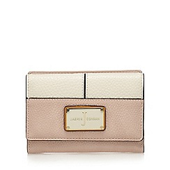 J by Jasper Conran - Pink textured flap-over wallet