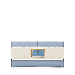 J by Jasper Conran - Light blue colour block enamel plate large flapover purse