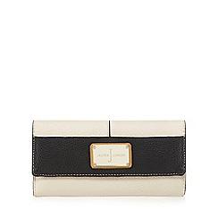 J by Jasper Conran - Cream colour block enamel plate large flapover purse