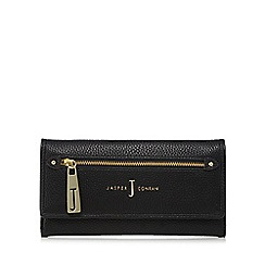 J by Jasper Conran - Black zip front large flapover purse
