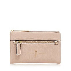J by Jasper Conran - Light pink zip front small foldover purse