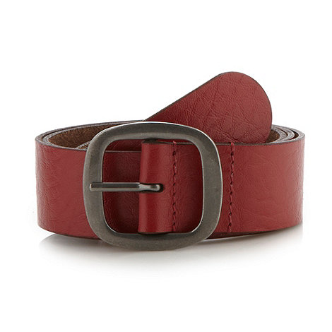 Mantaray - Red leather belt