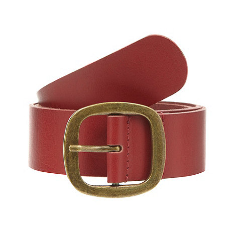 Mantaray - Bright red leather belt