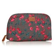 Grey Pink Tulip Wash Bag