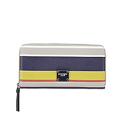 Principles by Ben de Lisi - Multi-colour stripe print zip-around wallet