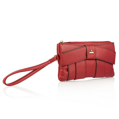Fiorelli - Red leather look pleated wristlet bag