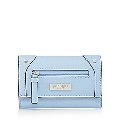 Principles by Ben de Lisi - Blue front zip fold over purse