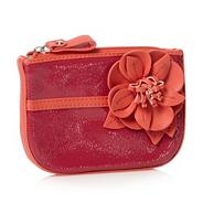 Designer dark pink flower coin purse