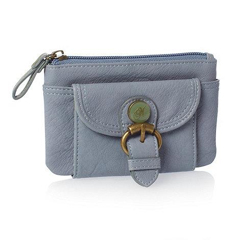Mantaray - Blue enamel button coin purse