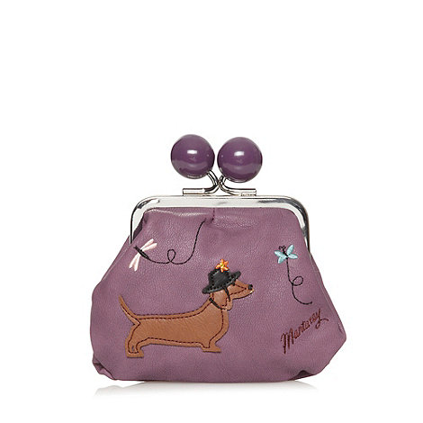 Mantaray - Purple applique dog coin purse