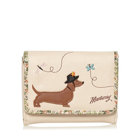 Mantaray - Cream dog design purse