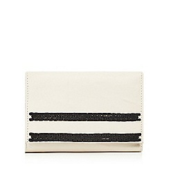The Collection - Cream braided striped leather purse