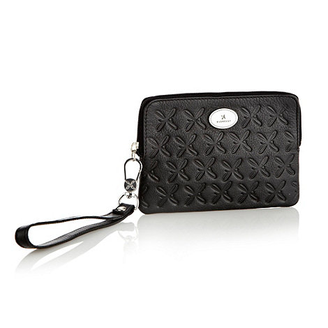 Fiorelli - Black leather embossed coin purse