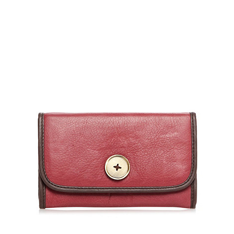Mantaray - Dark pink leather popper purse
