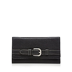 The Collection - Black flap over buckle wallet