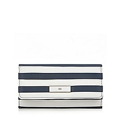 The Collection - Navy and white striped flap over purse