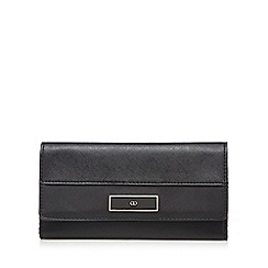 The Collection - Black textured cross hatch flap over purse