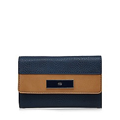 The Collection - Navy contrast edge flap-over wallet