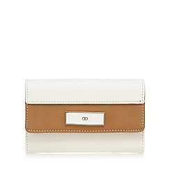 The Collection - White contrast edge flap over wallet