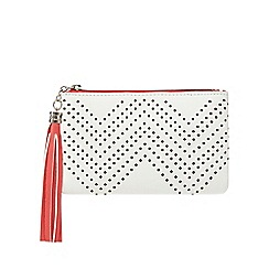 The Collection - White perforated coin purse
