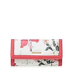 The Collection - Pink floral print flap over purse