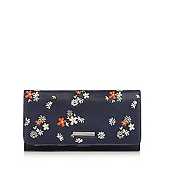 The Collection - Blue embroidered floral purse