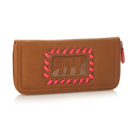 H! by Henry Holland - Designer tan neon stab stitched purse