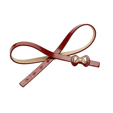 The Collection - Red bow detail skinny waist belt