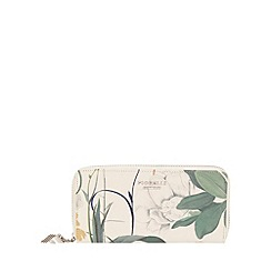 Fiorelli - White Botanical Print City large zip around purse