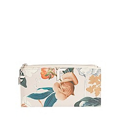 Fiorelli - White Botanical Print Lara large zip top purse