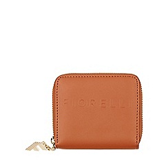 Fiorelli - Tan Logo Large Zip Around Purse