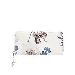Fiorelli - White floral print zip-around wallet