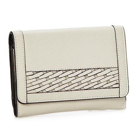 RJR.John Rocha - Designer cream woven panelled leather purse