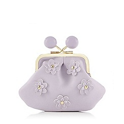 Floozie by Frost French - Purple floral detail coin purse