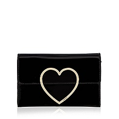 Floozie by Frost French - Black patent heart purse