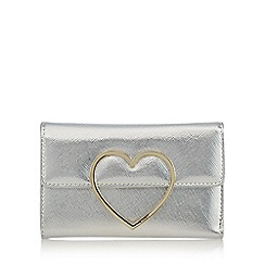 Floozie by Frost French - Silver patent heart purse
