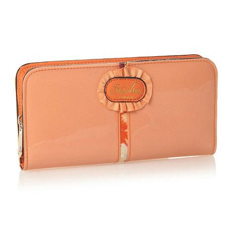 Sacha - Coral patent panel purse