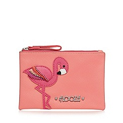 Floozie by Frost French - Pink flamingo appliqueé coin purse