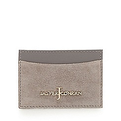 J by Jasper Conran - Grey suede card holder