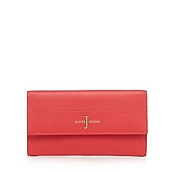 J by Jasper Conran - Red leather large flap over purse