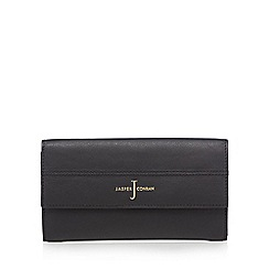 J by Jasper Conran - Black leather large flap over purse