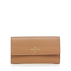 J by Jasper Conran - Tan leather large flapover purse